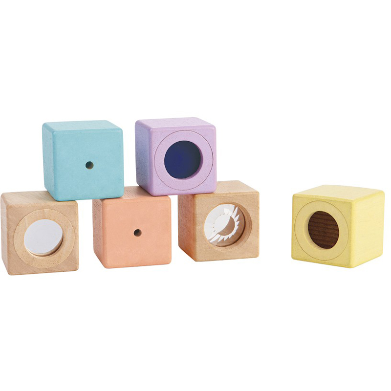 EarthHero - PlanToys Wooden Sensory Blocks - 1