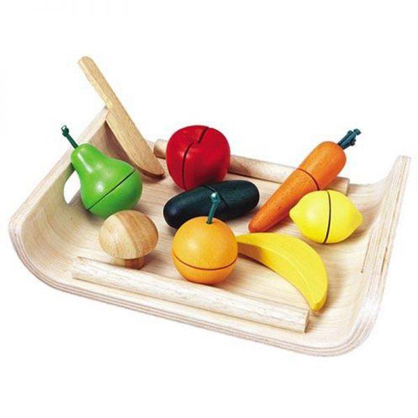 EarthHero - Pretend Play Fruit & Veggie Set - 1