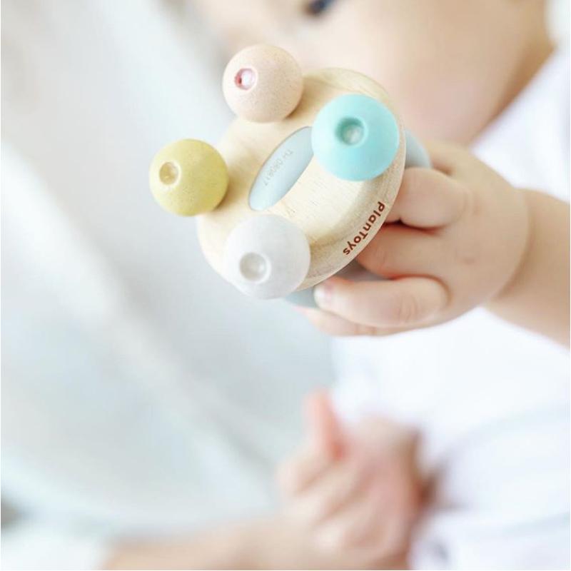 EarthHero - PlanToys Baby Wooden Bell Rattle - 2