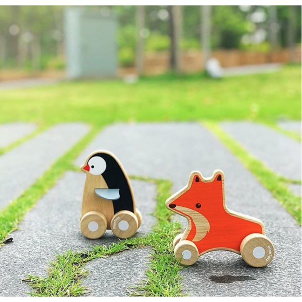 EarthHero - Fox Wheelie Wooden Baby Toy - 3