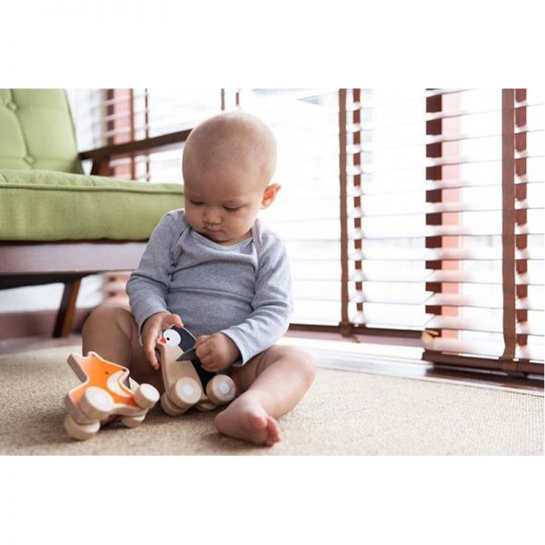 EarthHero - Fox Wheelie Wooden Baby Toy - 4