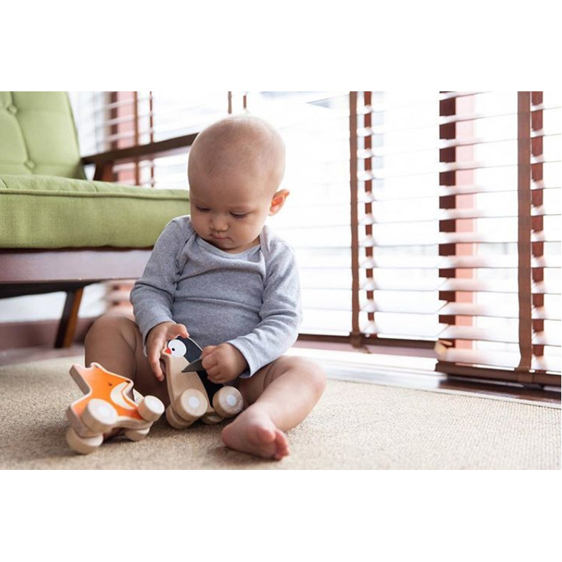EarthHero - Fox Wheelie Wooden Baby Toy - 4