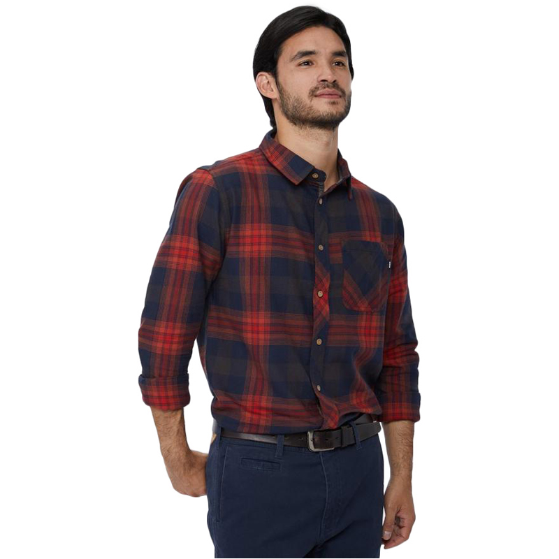 EarthHero - tentree Men's Fergus Plaid Longsleeve Button Up - 1