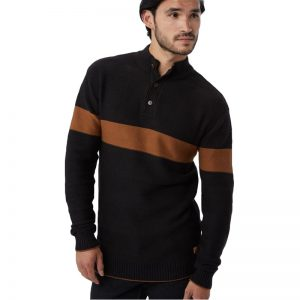 EarthHero - tentree Men's Iko Waffle Knit Button Up Sweater - 1