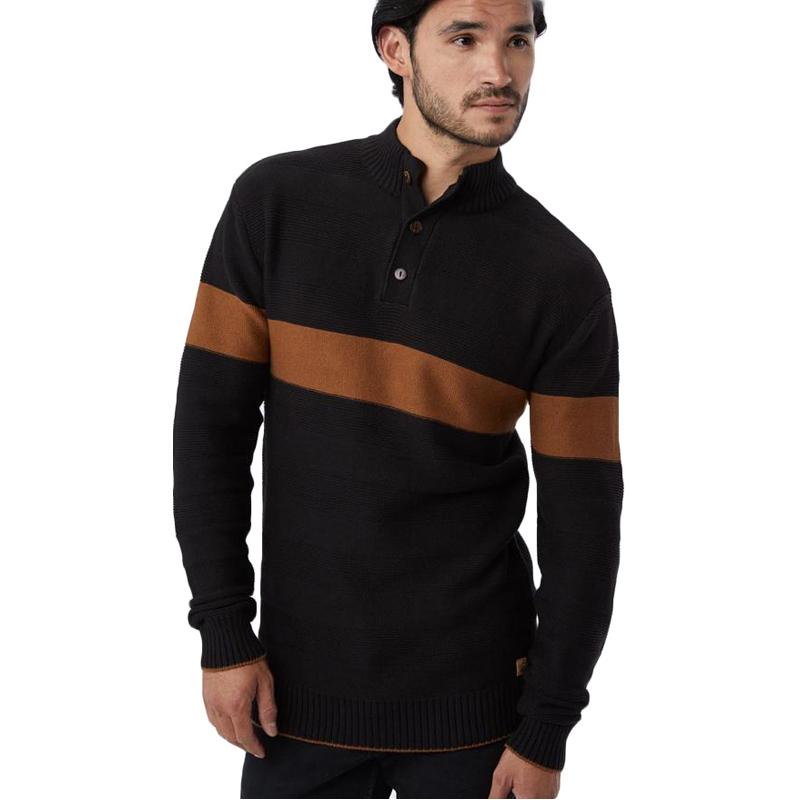 EarthHero - tentree Men's Iko Waffle Knit Button Up Sweater - 1