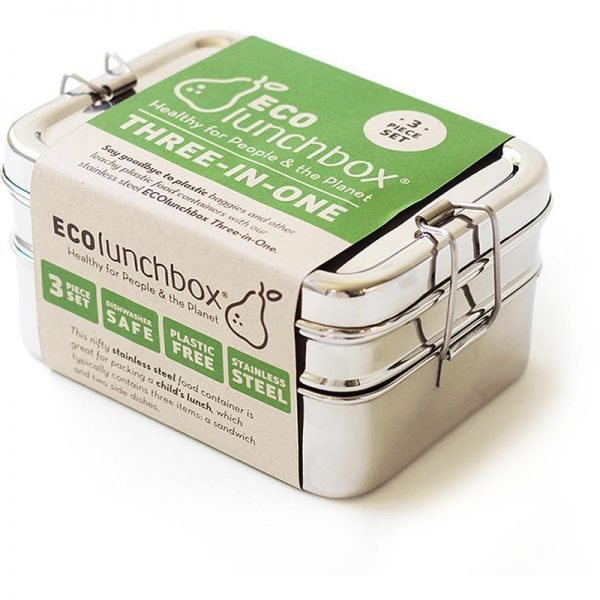 EarthHero - 3-in-1 Classic Stainless Steel Lunchbox - 1