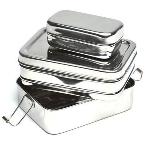 EarthHero - 3-in-1 Classic Stainless Steel Lunchbox - 2