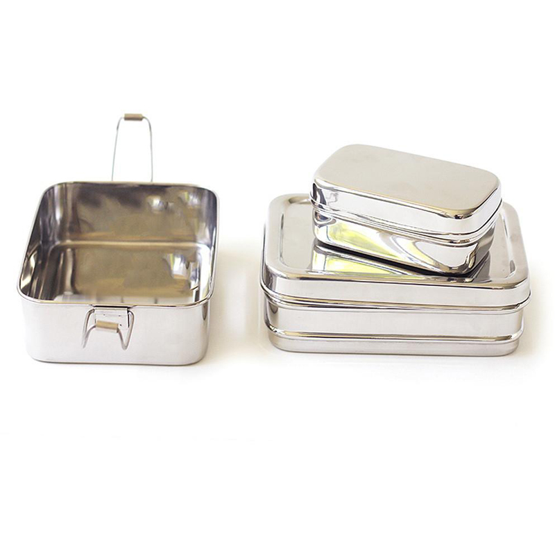 EarthHero - 3-in-1 Classic Stainless Steel Lunchbox - 3