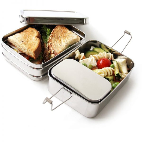 EarthHero - 3-in-1 Classic Stainless Steel Lunchbox - 4