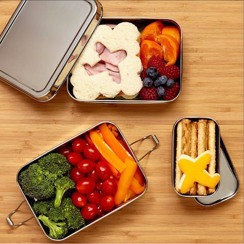 EarthHero - 3-in-1 Classic Stainless Steel Lunchbox - 6