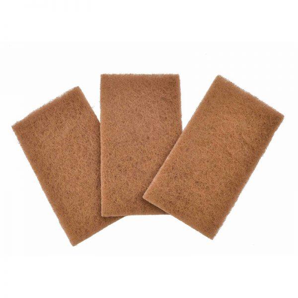 """EarthHero - """"Neat Nut"""" Walnut Sponge Shell Scour Pads (3pk) 1"""