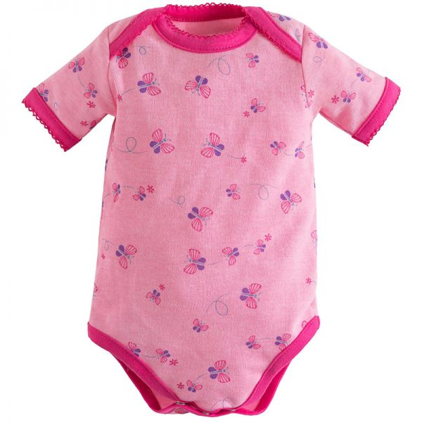 EarthHero - Bella Butterfly Short Sleeve Baby Onesie 1