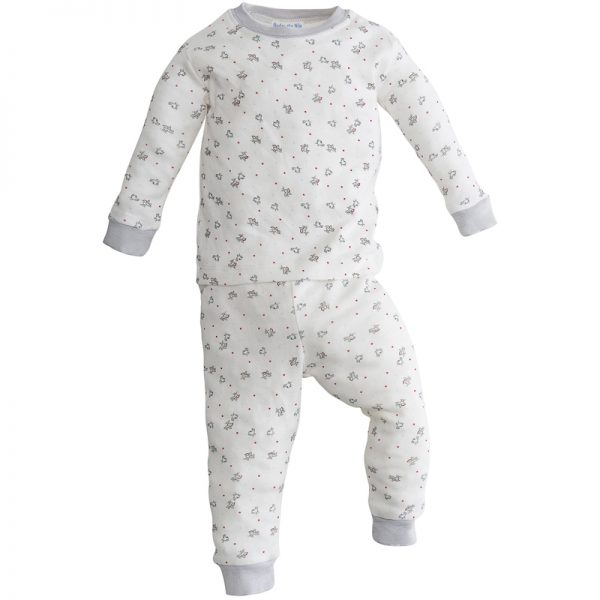 EarthHero - Bird Print Baby and Kids Long Johns 1