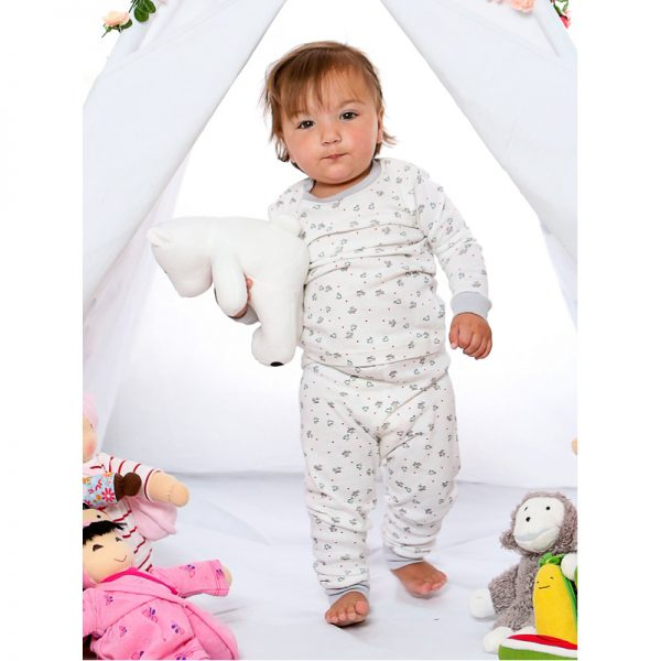 EarthHero - Bird Print Baby and Kids Long Johns 2
