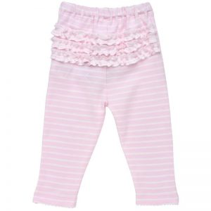 EarthHero - Pink Striped Baby Ruffle Pants 1