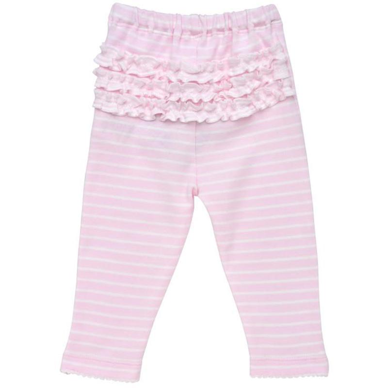 EarthHero - Pink Striped Baby Ruffle Pants 1