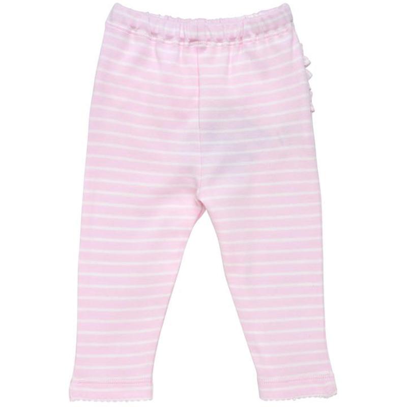 EarthHero - Pink Striped Baby Ruffle Pants 2
