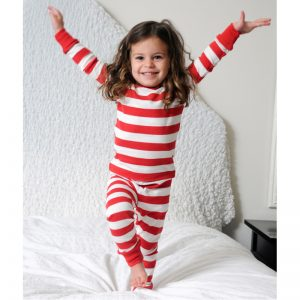 EarthHero - Red Striped Baby and Kids Long Johns 2