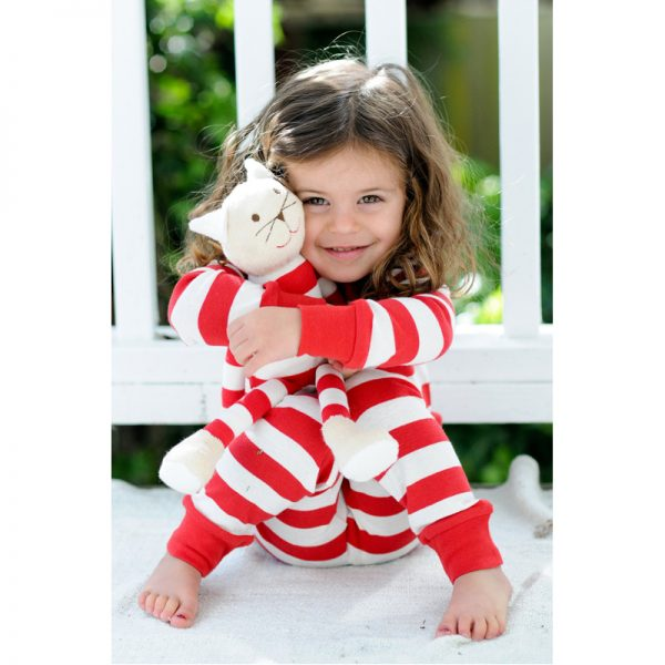 EarthHero - Red Striped Baby and Kids Long Johns 3