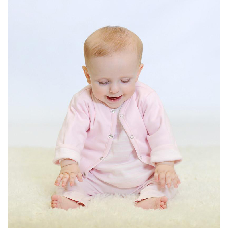 EarthHero - Reversible Pink Baby Sweater 2