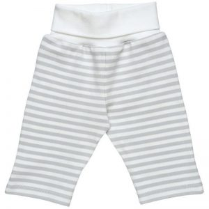 EarthHero - Roll Waist Baby Pants - Grey Stripe