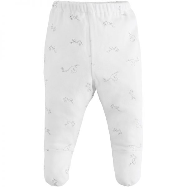 EarthHero - Stork Print Baby Footed Pant 1