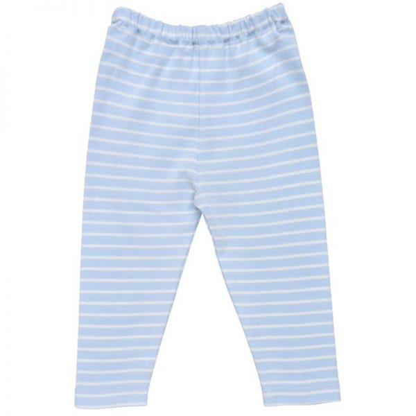 EarthHero - Striped Baby Pull Up Pants - Pale Blue Stripe