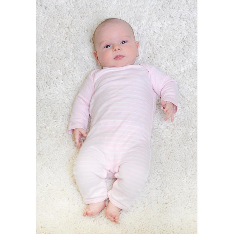 EarthHero - Striped Long Sleeve Baby Romper 2