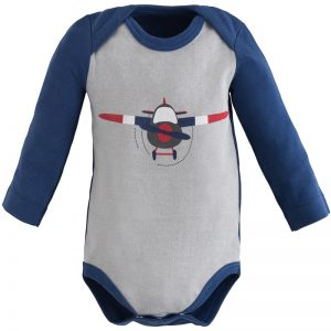 EarthHero - Twilight Planes Long Sleeve Baby Onesie 1