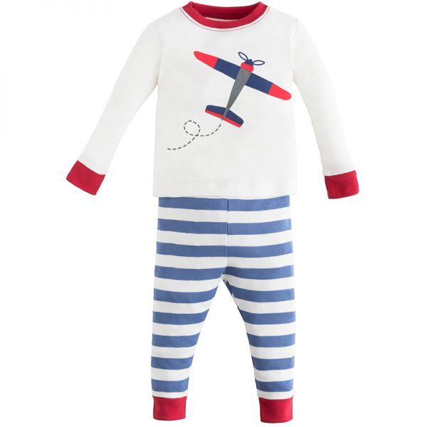 EarthHero - Twilight Planes Print Baby and Kids Long Johns 1