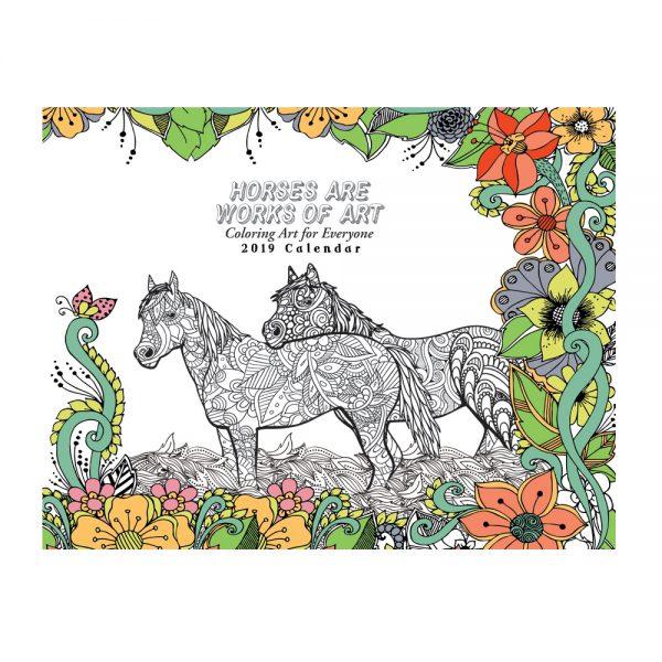 EarthHero - Horse Lovers Coloring Calendar 1