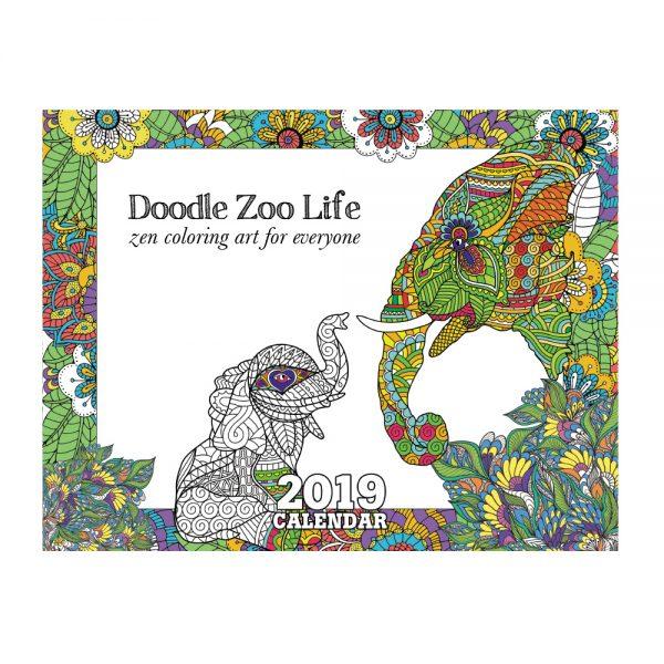 EarthHero - Zoo Life Coloring Calendar 1