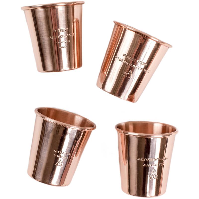 EarthHero - Engraved Copper Shotglass Set - 4pk - 1