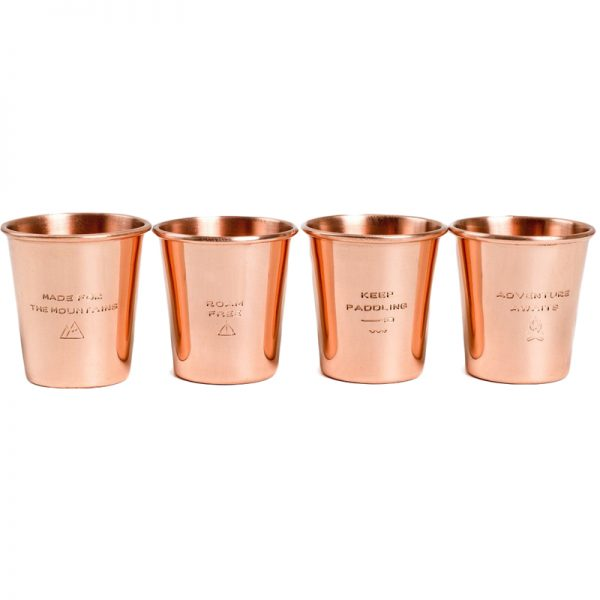 EarthHero - Engraved Copper Shotglass Set - 4pk - 2