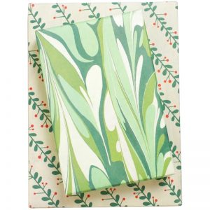 EarthHero - Marbled Mistletoe Recycled Gift Paper 1