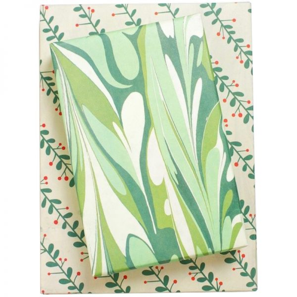 EarthHero - Marbled Mistletoe Recycled Gift Paper 1