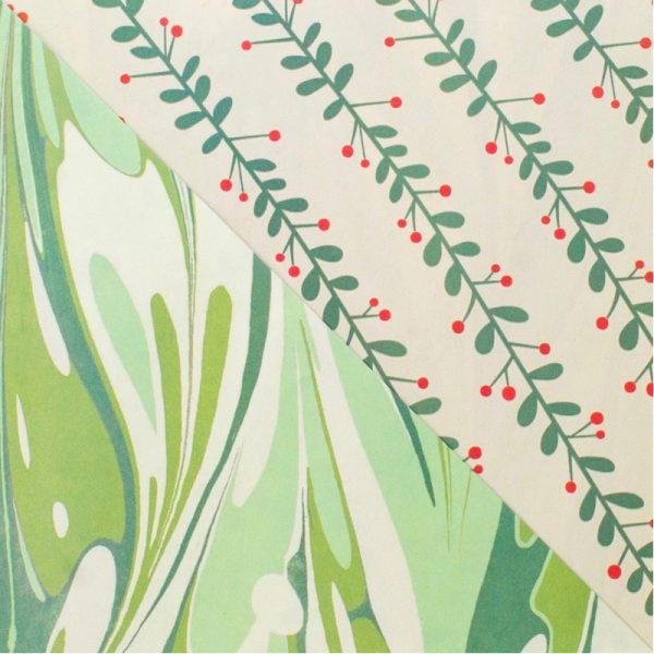 EarthHero - Marbled Mistletoe Recycled Gift Paper 2