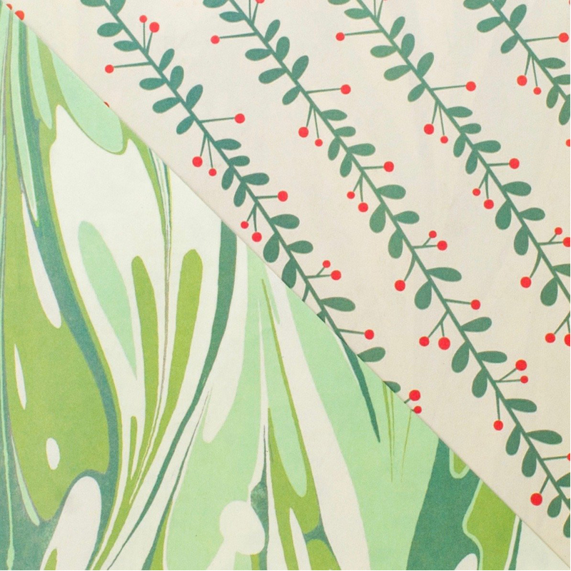 EarthHero - Marbled Mistletoe Recycled Gift Paper 2