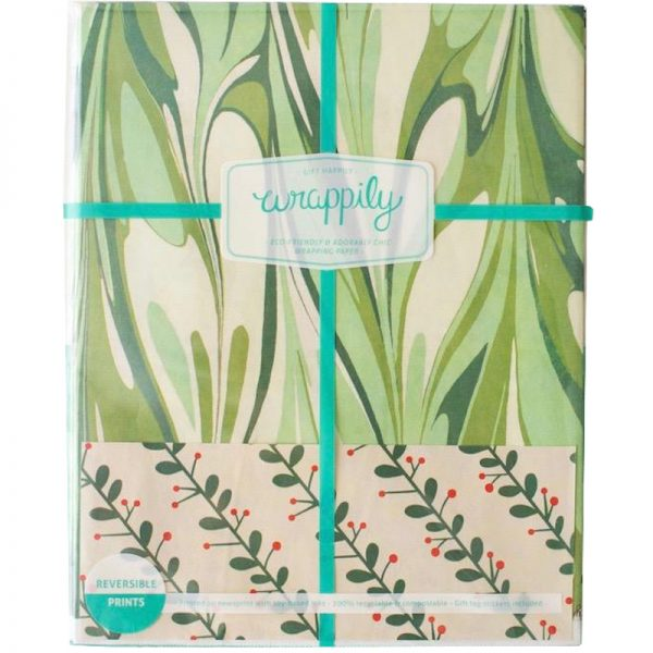 EarthHero - Marbled Mistletoe Recycled Gift Paper 3