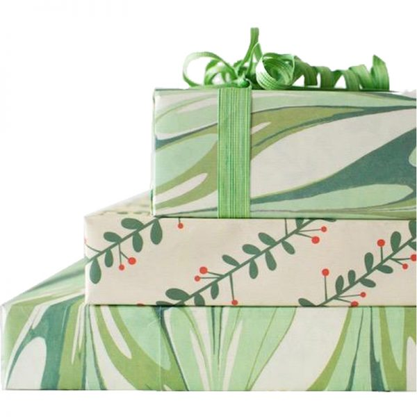 EarthHero - Marbled Mistletoe Recycled Gift Paper 4