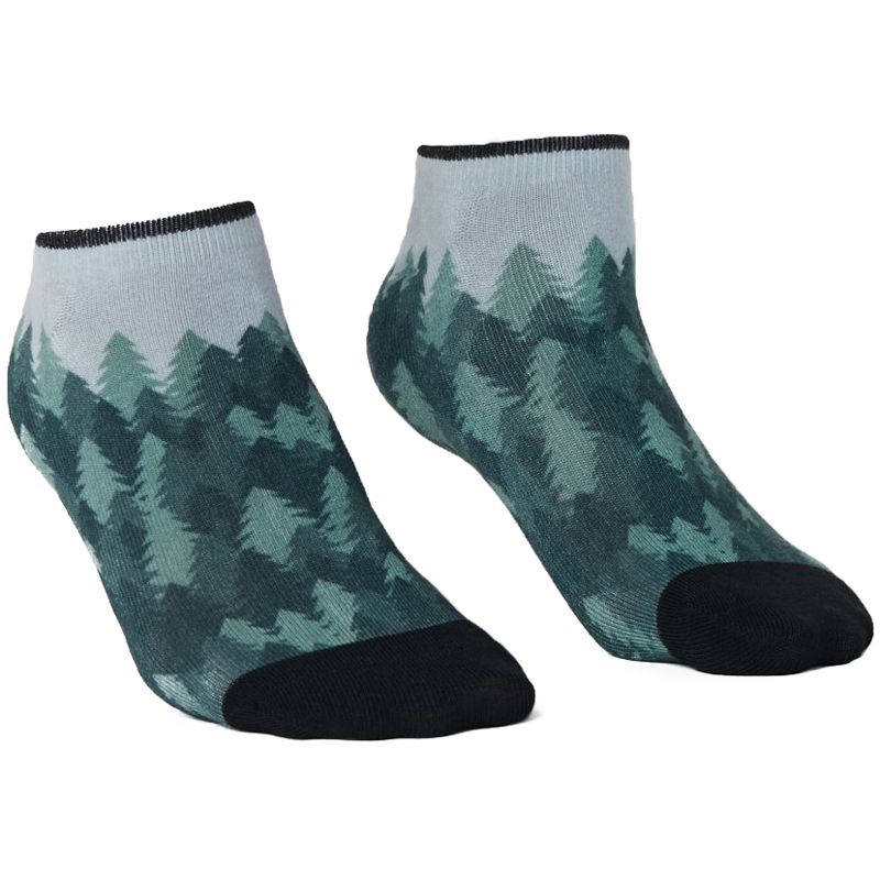 EarthHero - 2-Pack Forest/Lunar Recycled Polyester Ankle Socks - 2