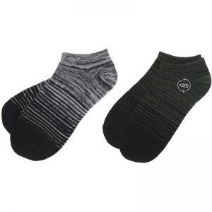 EarthHero - tentree 2-Pack Green/Grey Gradient Recycled Polyester Ankle Socks - Green Gradient/Grey Gradient - L/XL