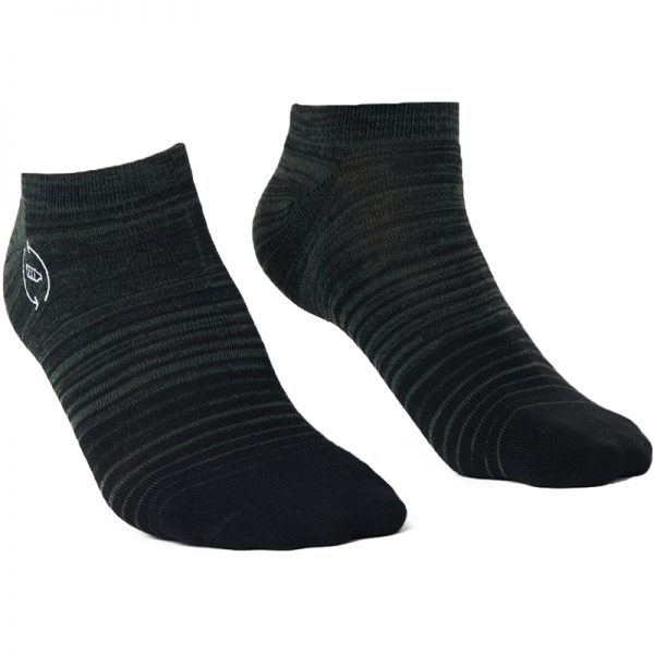 EarthHero - 2-Pack Green/Grey Gradient Recycled Polyester Ankle Socks - 2