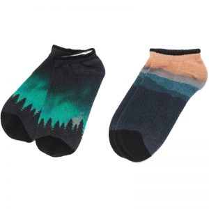 EarthHero - tentree 2-Pack Sunset/Jupiter Recycled Polyester Ankle Socks - Sunset Mountain/Northern Jupiter - L/XL