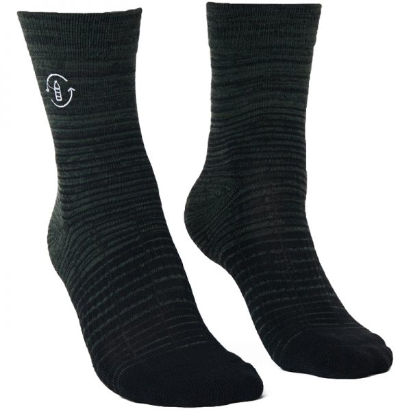 EarthHero - 2-Pack Recycled Polyester Crew Socks - 2