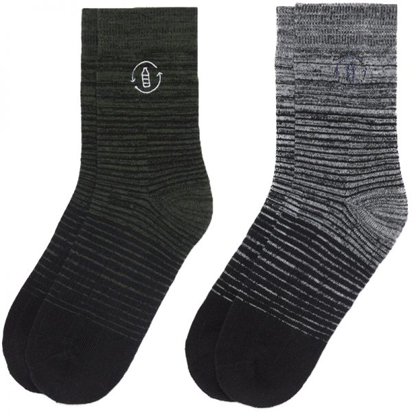 EarthHero - 2-Pack Recycled Polyester Crew Socks - 1