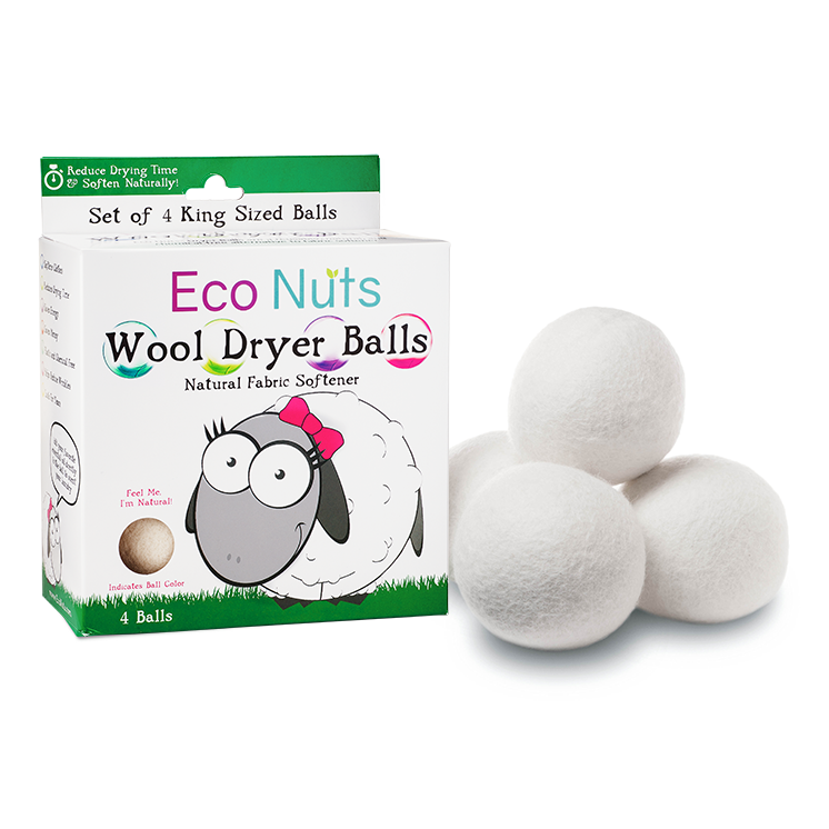 EarthHero - Wool Dryer Balls - 4pk 1