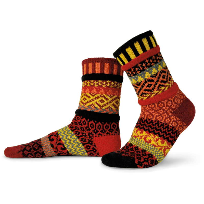 EarthHero - Fire Crew Cut Solmate Socks