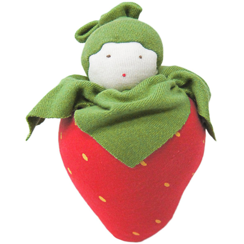 EarthHero - Organic Strawberry Plush Toy - 1