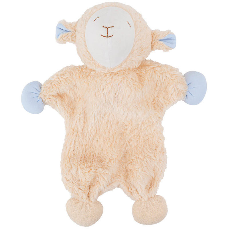EarthHero - Organic Snuggle Sheep Plush Toy - Blue Ears